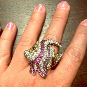 Jewelry - Unique, Semiprecious Stones, Angel Fish Ring